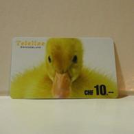 Phonecard - Switzerland - Teleline - 10 Francs - Suisse