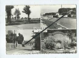 CPSM Grand Format - Appilly  -( Oise)Le Calvaire - L'Ecluse - Café De La Poste - La Fontaine - Frankreich