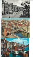 Italie Chioggia Lot 3 Cartes Modernes Tout Scanné - Chioggia