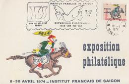 Carte   VIETNAM   Exposition   Philatélique   SAIGON   1974 - Viêt-Nam
