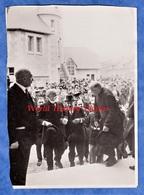 Photo Ancienne - ANIZY Le CHATEAU - Visite De Paul DOUMER Reçu Par Le Curé Sur Le Seul De L'Eglise Reconstruite - TOP - War, Military