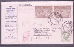 BUDDHISM - BURMA / MYANMAR - 1954- BUDDHIST SYNOD  SPECIAL REGISTERED AIRMAIL COVER TO BOMBAY- NICE ITEM - Buddhism