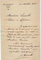 VP15.220 - Lettre - Mlle J. GUIVALET Sage - Femme à DIJON - Old Professions