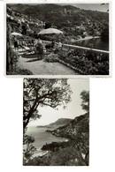 2 Photos C1950 Roquebrune - Vue De La Terrasse De L'hôtel-villa Sévigné - 2 Scans - Places