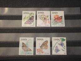 SAMOA - 1986 FARFALLE 6 VALORI - NUOVI(++) - Samoa (Staat)