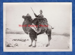 Photo Ancienne - MONGOLIA / MONGOLIE - Portrait D'un Cavalier Mongol - Contretype Ave Cachet Shimbun Reng - Places