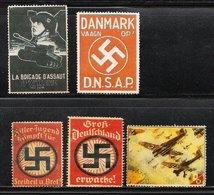 Vignettes Guerre II  - Faux (Forgery) No Gum - Germania