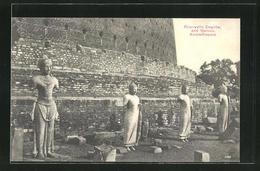 AK Anuradhapura, Ruanwella Dagoba And Statues - Sri Lanka (Ceylon)