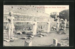 AK Ceylon, Ruanwell Dagoba And Statues, Ruined Citles - Sri Lanka (Ceylon)