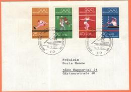 GERMANIA - GERMANY - Deutschland - ALLEMAGNE - 1972 - 4  X München + Special Cancel 2. Olympiamarkenblock - Augsburg - F - [7] Federal Republic