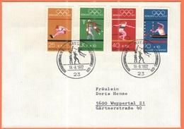 GERMANIA - GERMANY - Deutschland - ALLEMAGNE - 1972 - 4  X München + Special Cancel 2. Olympiamarkenblock - Kiel - FDC - - [7] Federal Republic
