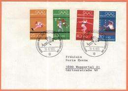 GERMANIA - GERMANY - Deutschland - ALLEMAGNE - 1972 - 4  X München + Special Cancel 2. Olympiamarkenblock - München -FDC - [7] Repubblica Federale