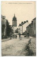 CPA * LIMERZEL Le Bourg Route De Questembert ( Rue Animée Cycliste Enfant Landau Chien ) - Otros Municipios