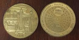 75 TOUR EIFFEL ARC DE TRIOMPHE NOTRE DAME DE PARIS MÉDAILLE MONNAIE DE PARIS 2019 JETON MEDALS TOKEN COINS - 2019