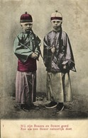 China, BOXER REBELLION, Caricature, Two Young Boxers (1899) Postcard - China
