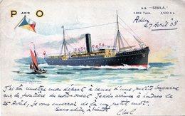 Le S. S . SIMLA - Steamers