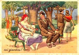 ALLAITEMENT Au SEIN -> HUMOUR MILITAIRE / BREASTFEEDING -> MILITARY COMIC CARTOON - ITALIA - ANNÉE / YEAR ~ 1950 (ac474) - Vrouwen