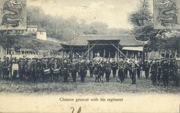 China, Chinese General With His Regiment (1907) Postcard - China