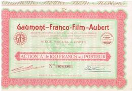 Titre Ancien - Gaumont-Franco-Film-Aubert - Société Anonyme - Titre De 1930 - - Industrie
