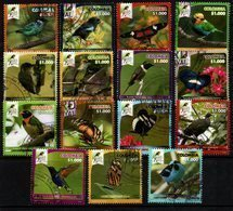 A019 KOLUMBIEN 2018. RISARALDA BIRD FESTIVAL- COMPLETE USED SET X 15 STAMPS. - Kolumbien