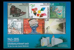 Luxembourg 2015 - 70th Anniversary End Of WWII  Souvenir Sheet Mnh - WW2 (II Guerra Mundial)