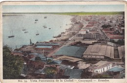 VISTA PANORAMICA DE LA CIUDAD. QUITO, ECUADOR. LIBRERIA GUTENBERG DE UZATEGUI. CPA 1920'S - BLEUP - Equateur