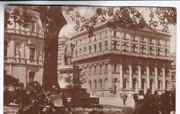 ROYAL EXCHANGE, SYDNEY. VINTAGE PANORAMA CPA CIRCA 1925'S - BLEUP - Sydney