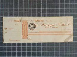 Cx8) Portugal Cheque Caderneta Coimbra JOSÉ HENRIQUES TOTTA & LDA (anos Vinte) Bank Banque - Schecks  Und Reiseschecks