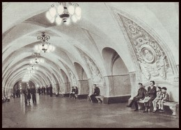 RUSSIA (USSR, 1954). MOSCOW METRO SUBWAY. HALL OF UNDEGROUND STATION ''TAGANSKAYA''. Unused Postcard - Métro