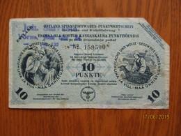 GERMANY WW II OSTLAND ESTONIA 10 PUNKTE WITH No And Watermark , 0 - [ 9] Occupied German Territories