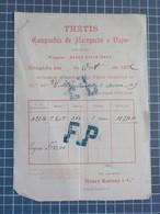 Cx 8) 2 Vieux Papiers Transport Portugal Companhia Navigation A Vapeur THETIS 1876 Vapor DOURO E RIO TEJO Henry Burnay - Portugal