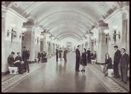 RUSSIA (USSR, 1954). MOSCOW METRO SUBWAY. HALL OF UNDEGROUND STATION ''KALUZHSKAYA''. Unused Postcard - Métro