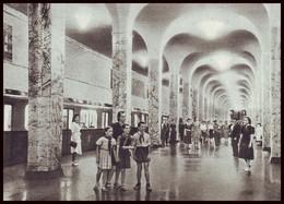 RUSSIA (USSR, 1954). MOSCOW METRO SUBWAY. HALL OF UNDEGROUND STATION ''ZAVOD IMENI STALINA''. Unused Postcard - Métro