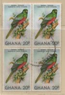 Ghana 1981 MiNr.: 872 Gestempelt 4er Block, Used Scott 746; Yt: 700, Sg:939 - Ghana (1957-...)