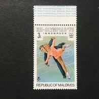 ◆◆◆MALDIVE ISLANDS  1976  12th Winter Olympic Games, Innsbruck, Austria, Feb. 4-15. Exist Imperf.   3L  NEW   AA3619 - Maldivas (1965-...)