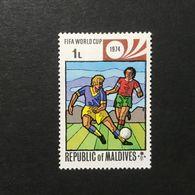 ◆◆◆MALDIVE ISLANDS  1974   World Cup Soccer Championship, Munich,June 13-July 7.    1L   NEW   AA3621 - Maldivas (1965-...)