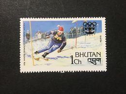◆◆◆BHUTAN  1976   Slalom And Olympic Games  Emblem   1CH  NEW   AA3626 - Bhután