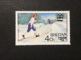 ◆◆◆BHUTAN  1976   Slalom And Olympic Games  Emblem   4CH  NEW   AA3629 - Bhután