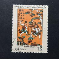 ◆◆◆ Vietnam  1972    Folk Engravings From Dong  Ho   12XU   USED   AA3652 - Vietnam