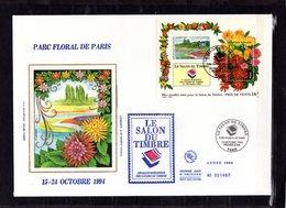""""""" SALON DU TIMBRE 1994 / PARIS """" Sur Enveloppe 1er Jour Grand Format De 1994. N° YT BF 16. Parfait état. - Sonstige"""