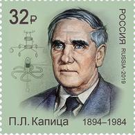 Russia 2019 RUSIA RUSSIE RUSSLAND Physicist Pyotr Kapitsa 1 V MNH ** - 1992-.... Föderation