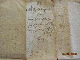 Lettre De 1657 - Manuscripts
