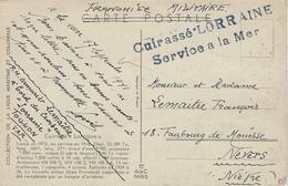 17-9-1941 - C P   CUIRASSE LORRAINE  ( Interné à Alexandrie De Juillet 1940 à Juin 1943 ) - Marcophilie (Lettres)