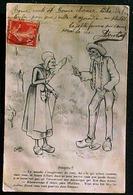 Cpa Signée C LESTIN , COUPLE PAYSANS  Parlant Des AEROPLANES , PROGRES ! 1911 OLD POEPLE SPEAKING ABOUT AIRPLANE Comic - Illustrateurs & Photographes