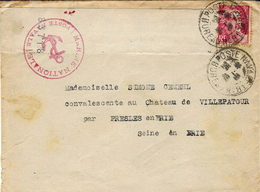 1946- Lettre Affr. 3 Frs Gandon Oblit. POSTE NAVALE  BUREAU N° 81 ( Paris ) - Marcophilie (Lettres)