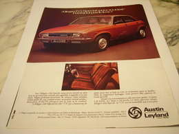 ANCIENNE  PUBLICITE  VOITURE ALLEGRO DE AUSTIN  LEYLAND 1977 - Voitures