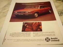 ANCIENNE  PUBLICITE  VOITURE ALLEGRO DE AUSTIN  LEYLAND 1977 - Cars