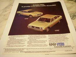 ANCIENNE   PUBLICITE VOITURE 1300 DE LANCIA 1977 - Voitures