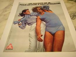 ANCIENNE PUBLICITE LES DISCRETS DE JIL 1977 - Vintage Clothes & Linen