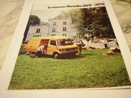 ANCIENNE PUBLICITE LE NOUVEAU  207 D DE MERCEDES  1977 - Camions